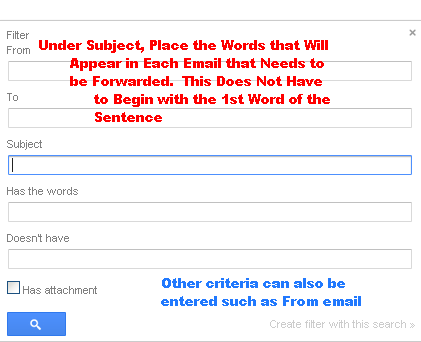 Edit Gmail Subject or Criteria for Forwarding